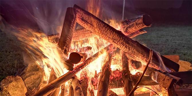 Огън и живи въглени